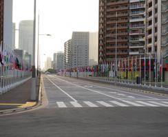 القرية الأولمبية في طوكيو، تمهيداً لاستقبال رياضيينا المشاركين بالنسخة الثانية والثلاثين من دورة الألعاب الأولمبية. وتتكون القرية من 21 مبنى سكني و 3800 شقة، وتقع في منطقة هارومي بالعاصمة اليابانية.