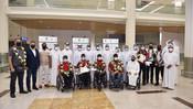 استقبال أبطالنا أصحاب الهمم لدى وصولهم مطار دبي
