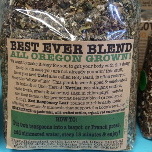 Best Ever Blend: All Oregon Grown, excellent wellness tonic