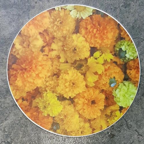 Sticker, Orange pile o flowers