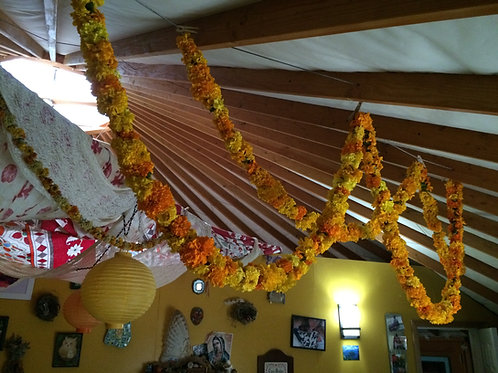 Dried Marigold Garlands