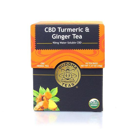 Buddha Teas CBD Turmeric & Ginger Tea (5mg)