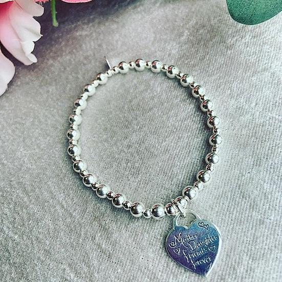 Sterling Silver Mother & Daughter Bracelet