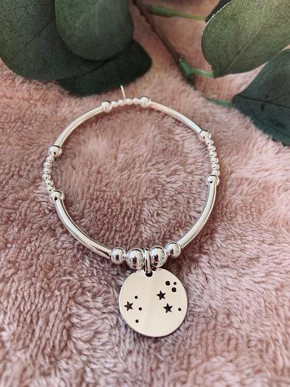 Sterling Silver Noodle Star Constellations Bracelet
