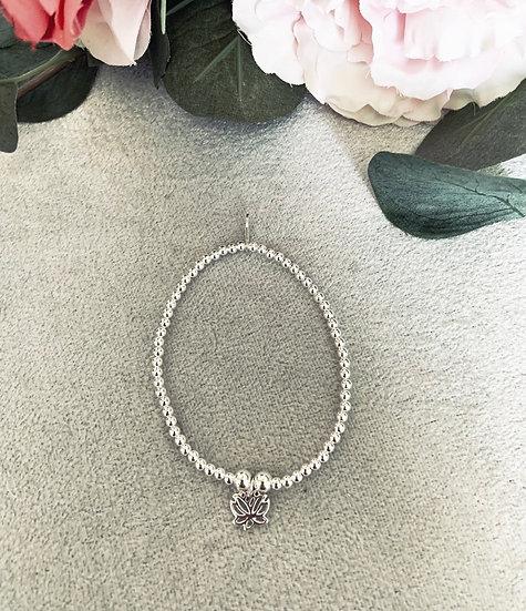 Small Lotus Flower Bracelet