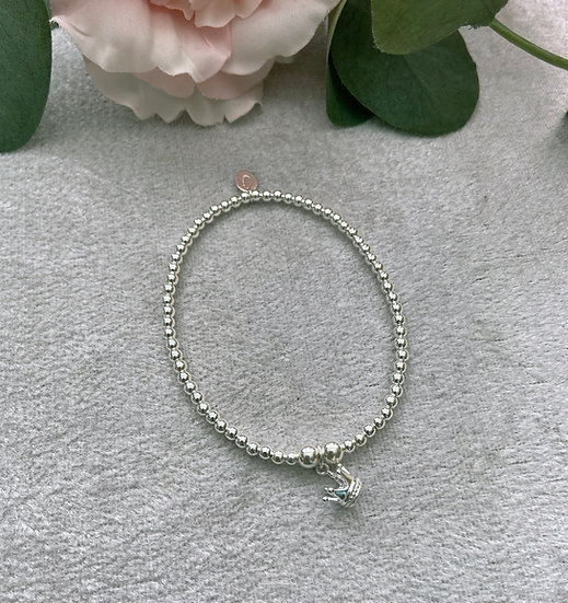 Sterling Silver Crown Bracelet