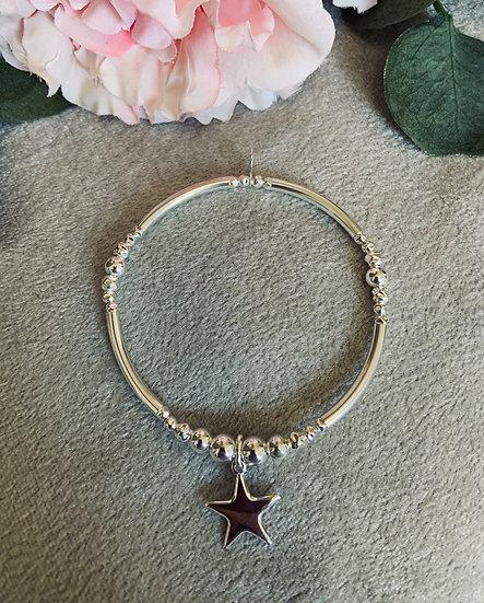 Large Noodle Star Bracelet