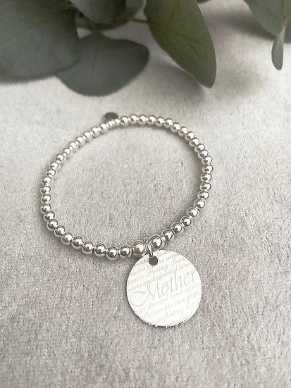 Sterling Silver Mother Bracelet