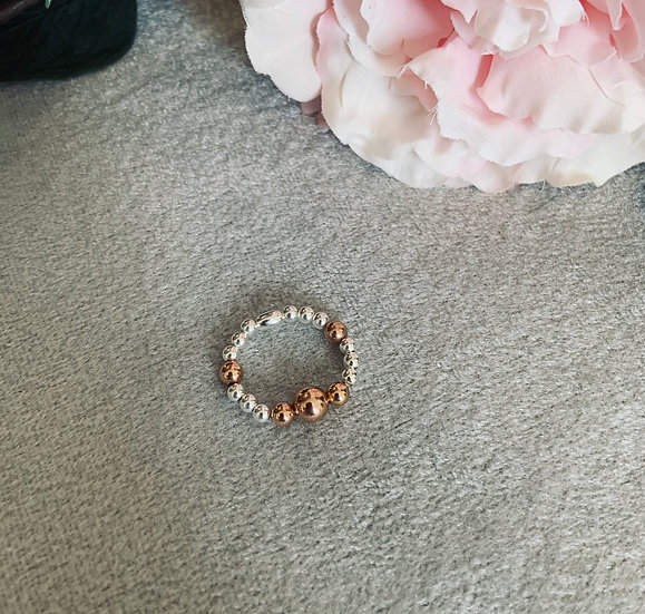 Rose Gold & Sterling Silver Ring
