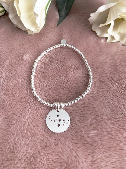 Sterling Silver Star Constellations Bracelet