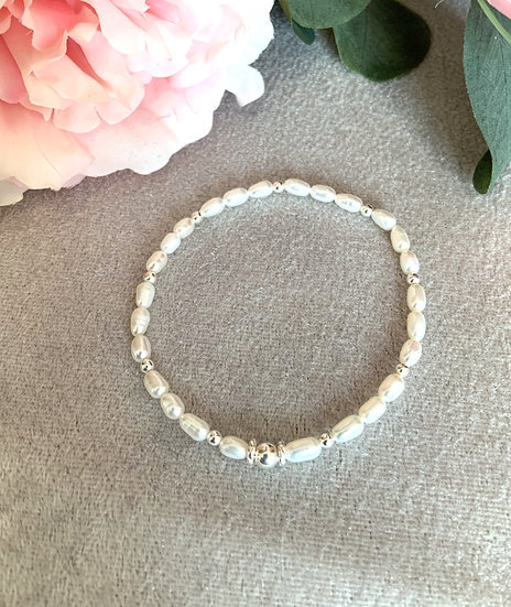 Freshwater Pearl & Sterling Silver Bracelet