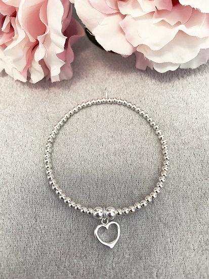 Small Open Heart Bracelet
