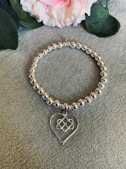 Large Infitnity Heart Chunky Bracelet