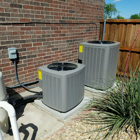 Two Levelled Condensers Installed by Cool Casa