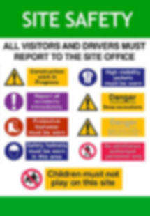 Site-Safety-Signs-On-A3-Poster-Or-Board-