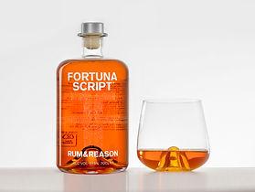 Fortuna Script and glas white background