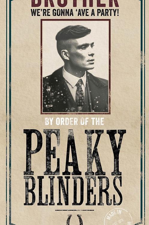 Brother Peaky Blinders Card