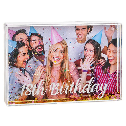 Glitzy Fun Frame 18th Birthday
