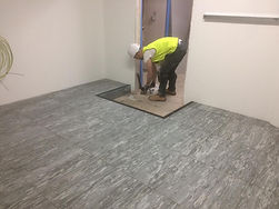 Vinyl bonded flooring