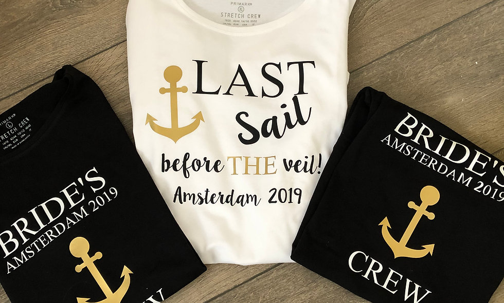 """""""Last Sail' Personalised Hen Do T-Shirt"""