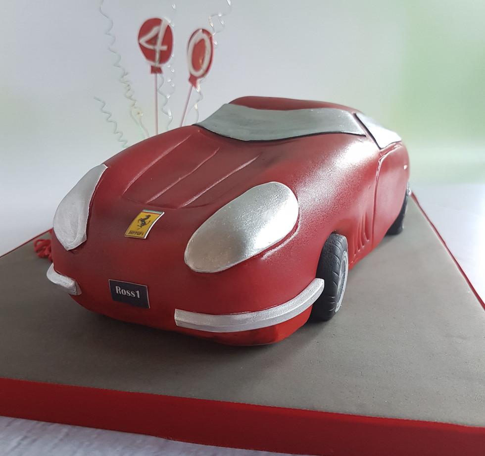 Ferrari Chocolate Cake