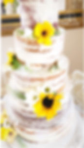 Lyndsay Marie Cake Designs - naked cake with sun flower
