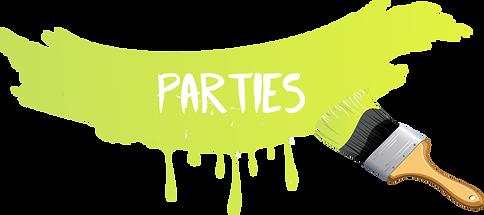 Green paint splat parties