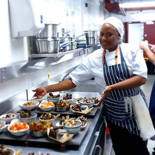 Paulina Francis showing food