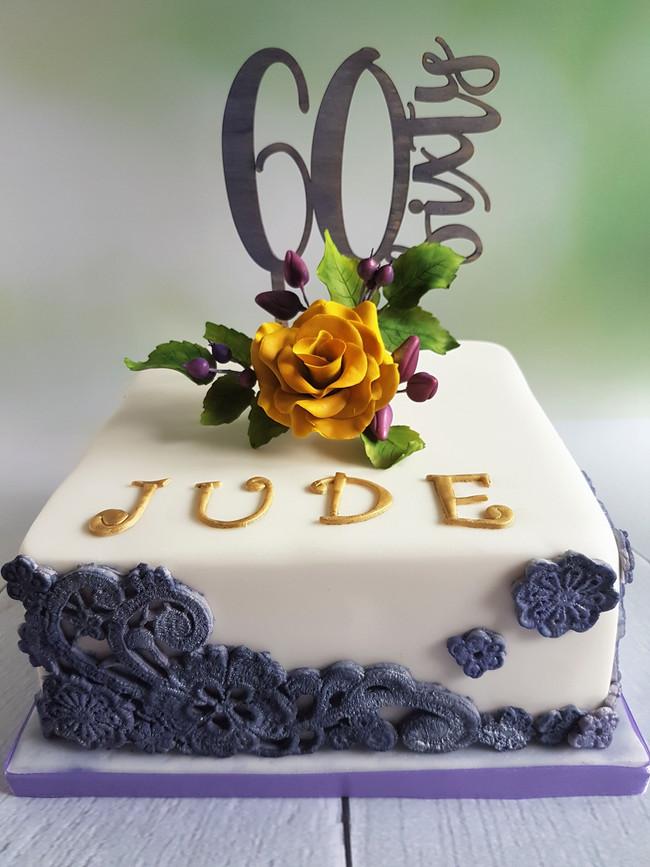 60th Birthday Fruit Cake