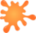 Orange paint splat