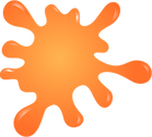 Orange paint splat