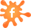 Facebook orange paint splat