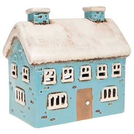 blue ceramic house
