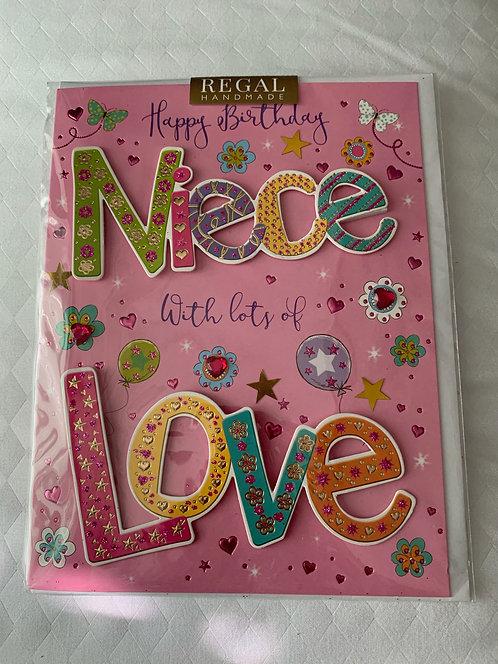Niece Birthday Card
