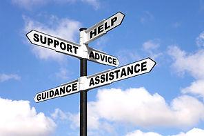 assistance signpost