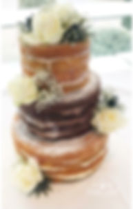 Lyndsay Marie Cake Designs - naked cake with white roses