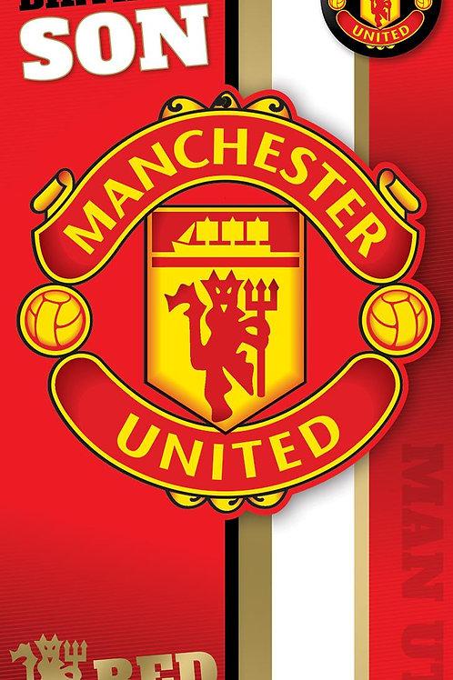 Son Manchester United Birthday card