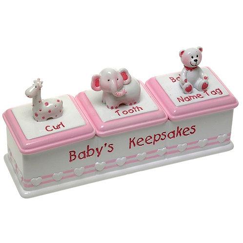 Baby Triple Keepsake Box