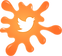 Twitter orange paint splat