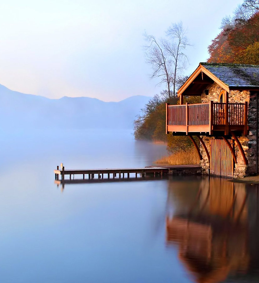 House on quiet lake