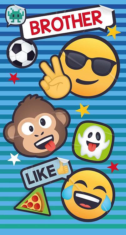 Brother Emoji Birthday Card