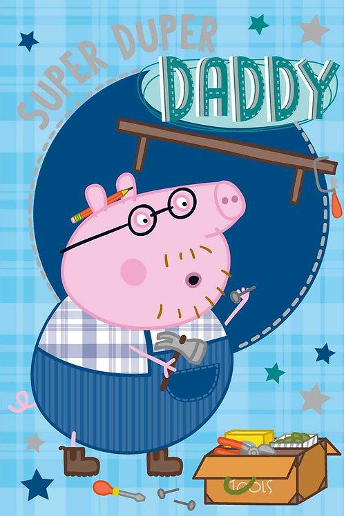 Daddy Peppa Pig Birthday card