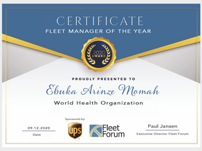 Winner: Fleet Manager of the Year Award