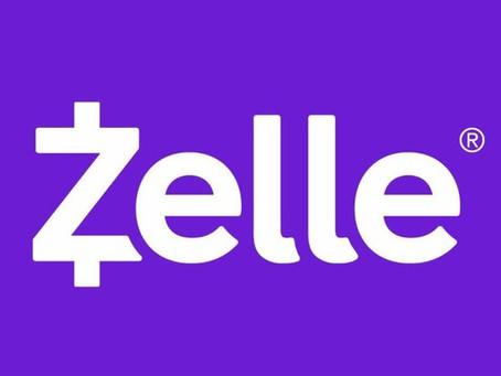 For your convenience, we now accept payments via Zelle