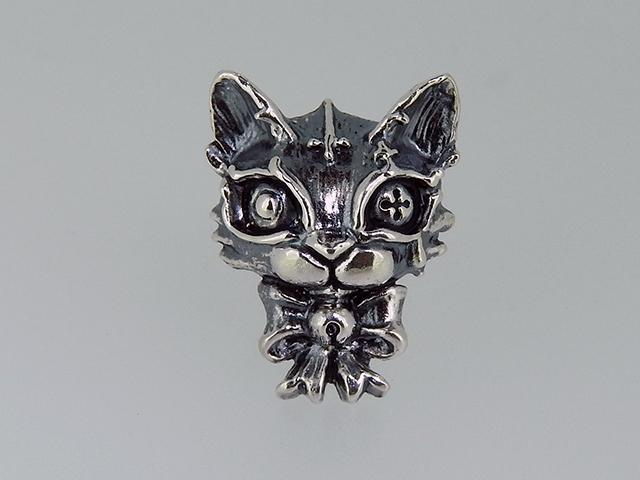 猫シルバーピアス