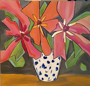 Crazy Flowers in vase