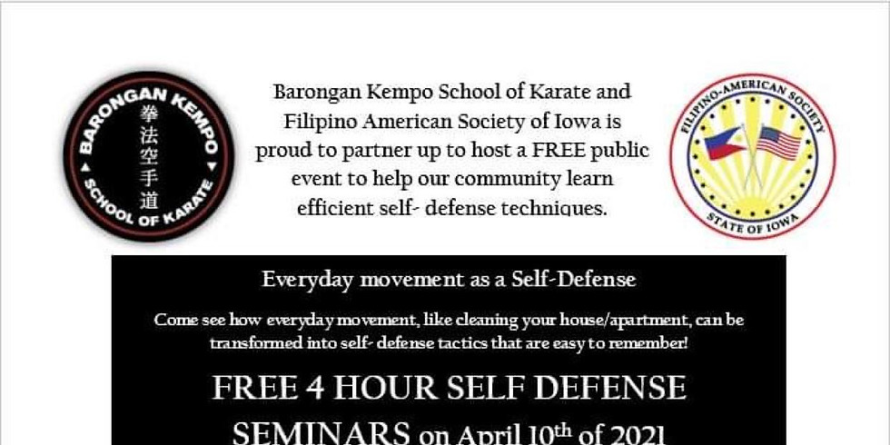 Everyday Movement as a Self-Defense 9 AM - 12 PM Session