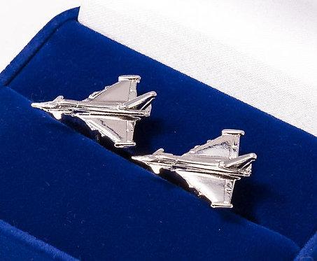 Eurofighter Typhoon Cufflinks Nickel Plated