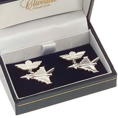 Eurofighter Typhoon Solid Silver Cufflinks