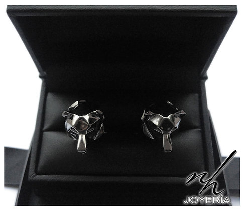 Bear Facet .925 CFLNK - Black Rhodium